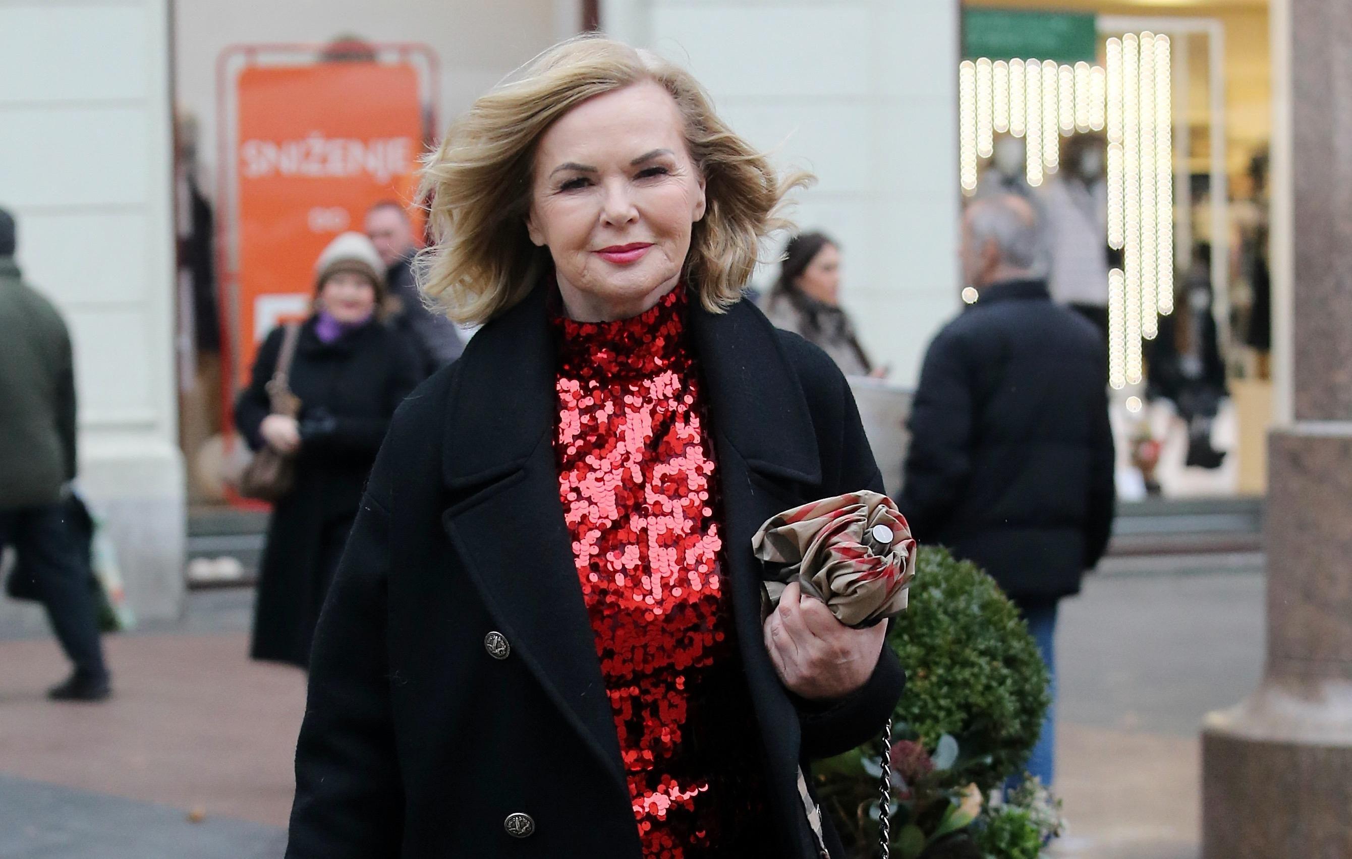 Jadranka Sloković nosi savršen šljokičasti top za blagdane