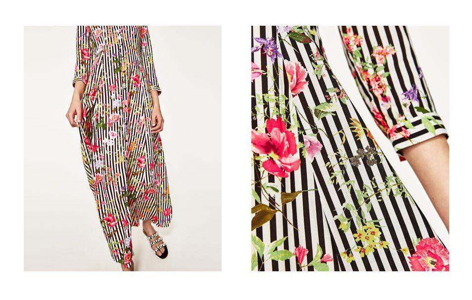 Kombinacija iz Zare koju želimo kopirati: dugačka haljina s uzorkom