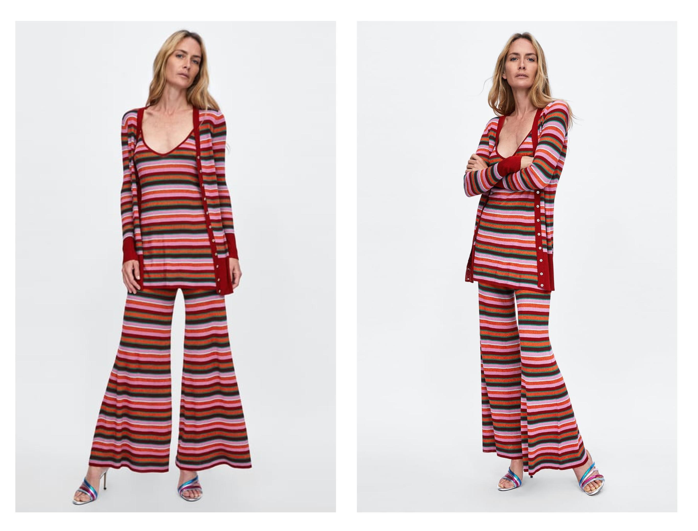 Ok, ne znamo što bismo mislili o ovoj kombinaciji iz Zare - malo podsjeća na pidžamu, ali ne u dobrom smislu