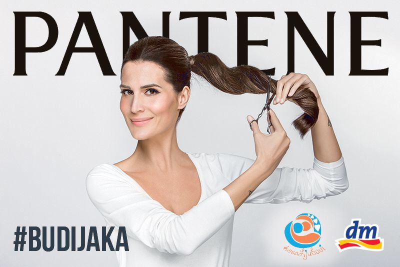 "Iva Balaban donirala kosu u Pantene ""Budi jaka"" kampanji"