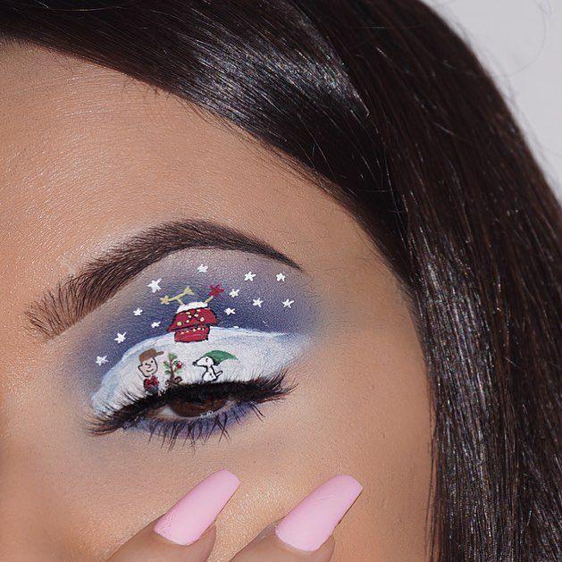 E, ovo se zove božićni make-up! Zaboravite na običan tuš i smokey eyes i pogledajte prava mala umjetnička djela