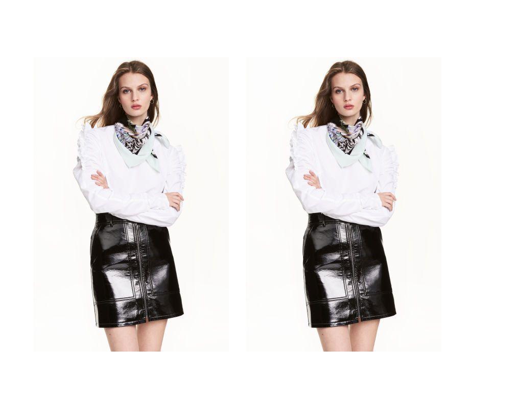 Kombinacija koju želimo nositi: bluza i kožna suknja