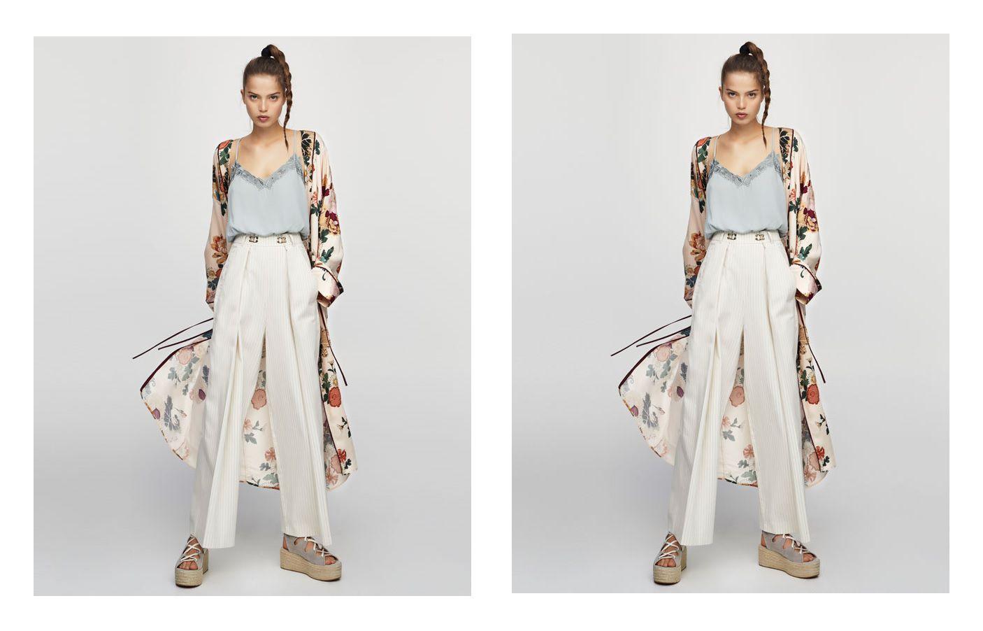 Kombinacija iz Pull&Bear-a koju želimo kopirati: široke hlače i kimono