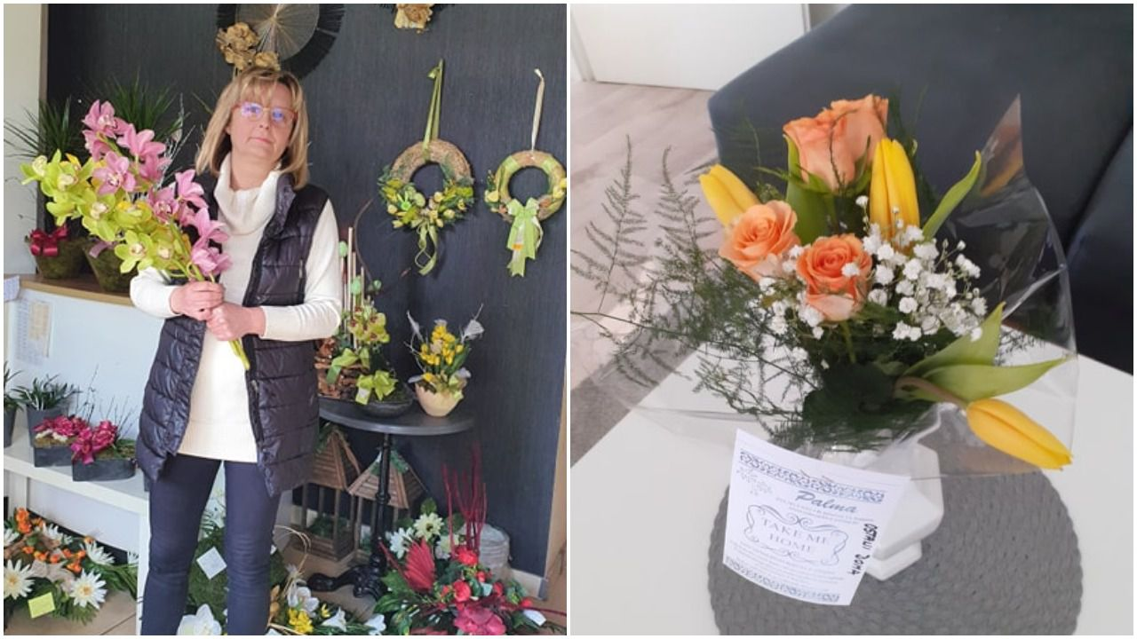 """Vlasnica đakovačke cvjećarnice dijeli bukete sugrađanima: """"Vidim da ih veseli, a to i je bit - da su ljudi sretni"""""""