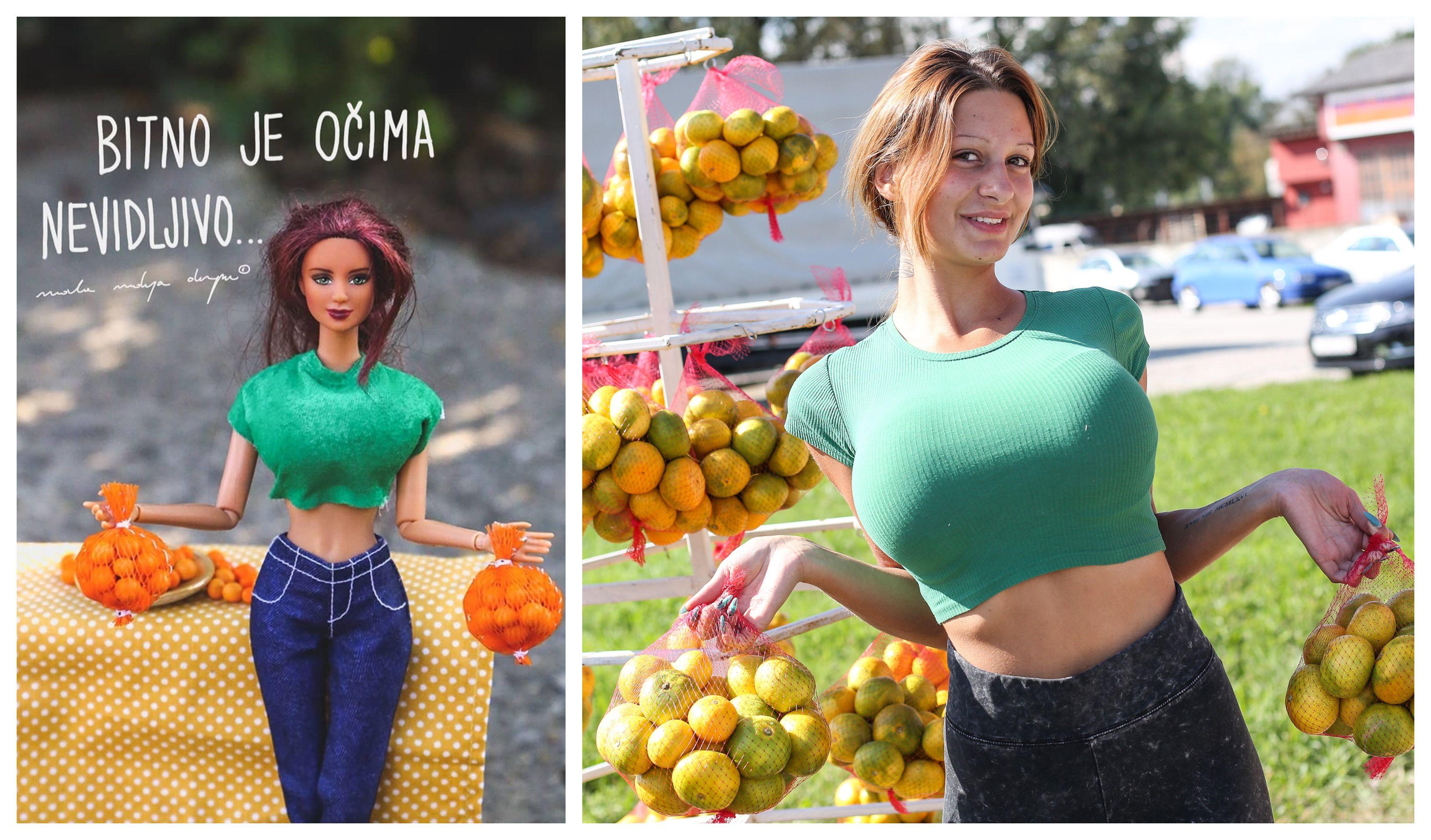 I hrvatski dizajneri se uhvatili popularne priče: Kristina koja prodaje mandarine postala je lutkica