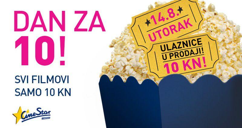 Savršen ljetni dan u kinu: Svi filmovi u Cinestar kinima za 10 kuna