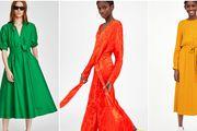 Jednobojne haljine u jarkim nijansama novi su ovosezonski hit