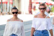 """Modne """"blizanke"""" pokazale da kombinacija trapera i bijele boje ne izlazi iz mode"""