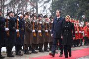Kolinda za susret s Vučićem odjenula kaput domaćeg dizajna s porukom - hrabrost!