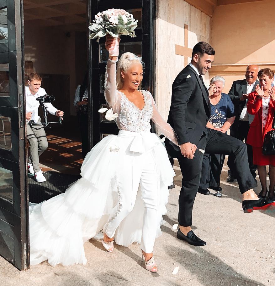 Vjenčanica od 590 m materijala i frak kao Becksov: Ovo je jedno od najljepših domaćih vjenčanja