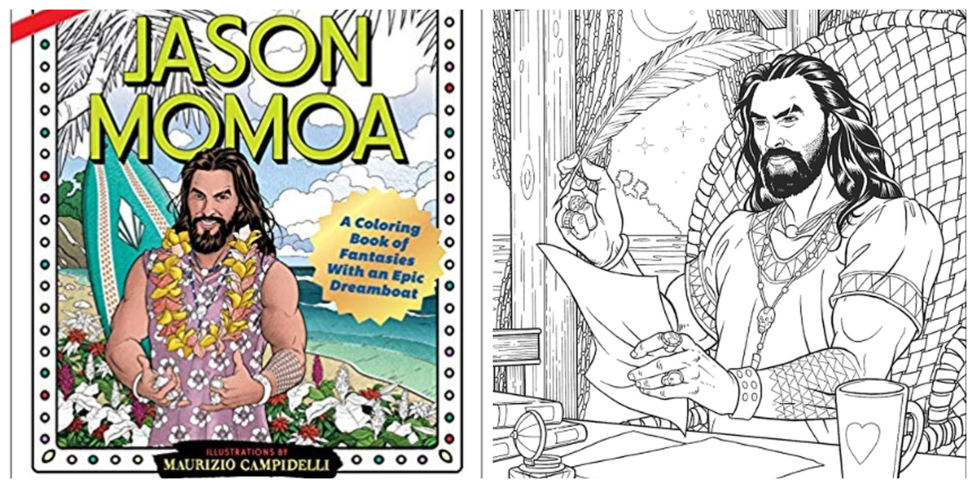 Za umanjivanje stresa: Žene obožavaju bojanku čiji je glavni lik Jason Momoa!