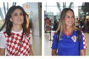 Branka Krstulović i djevojka Brune Kovačevića zasjenile su sve u navijačkim izdanjima na aerodromu
