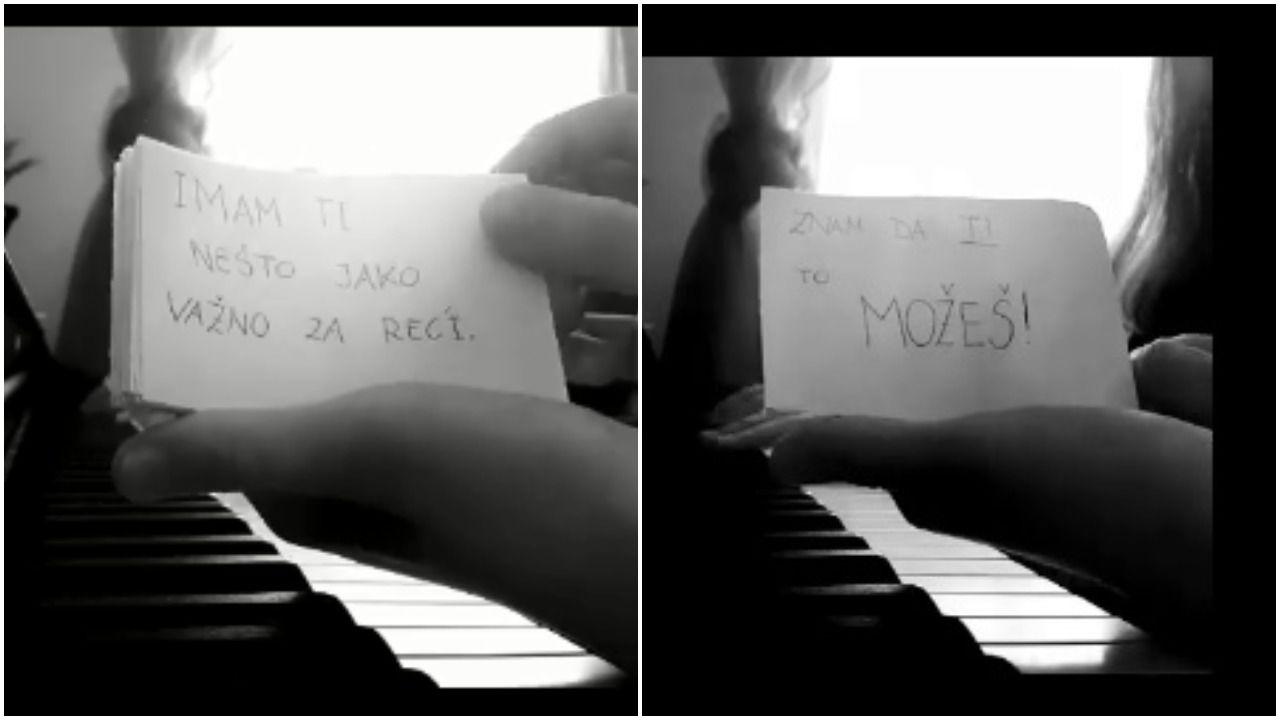 Učenica iz Sesveta dirljivim videom poslala snažnu poruku: 'Ovo nije šala, ostanite doma, znam da to možemo'