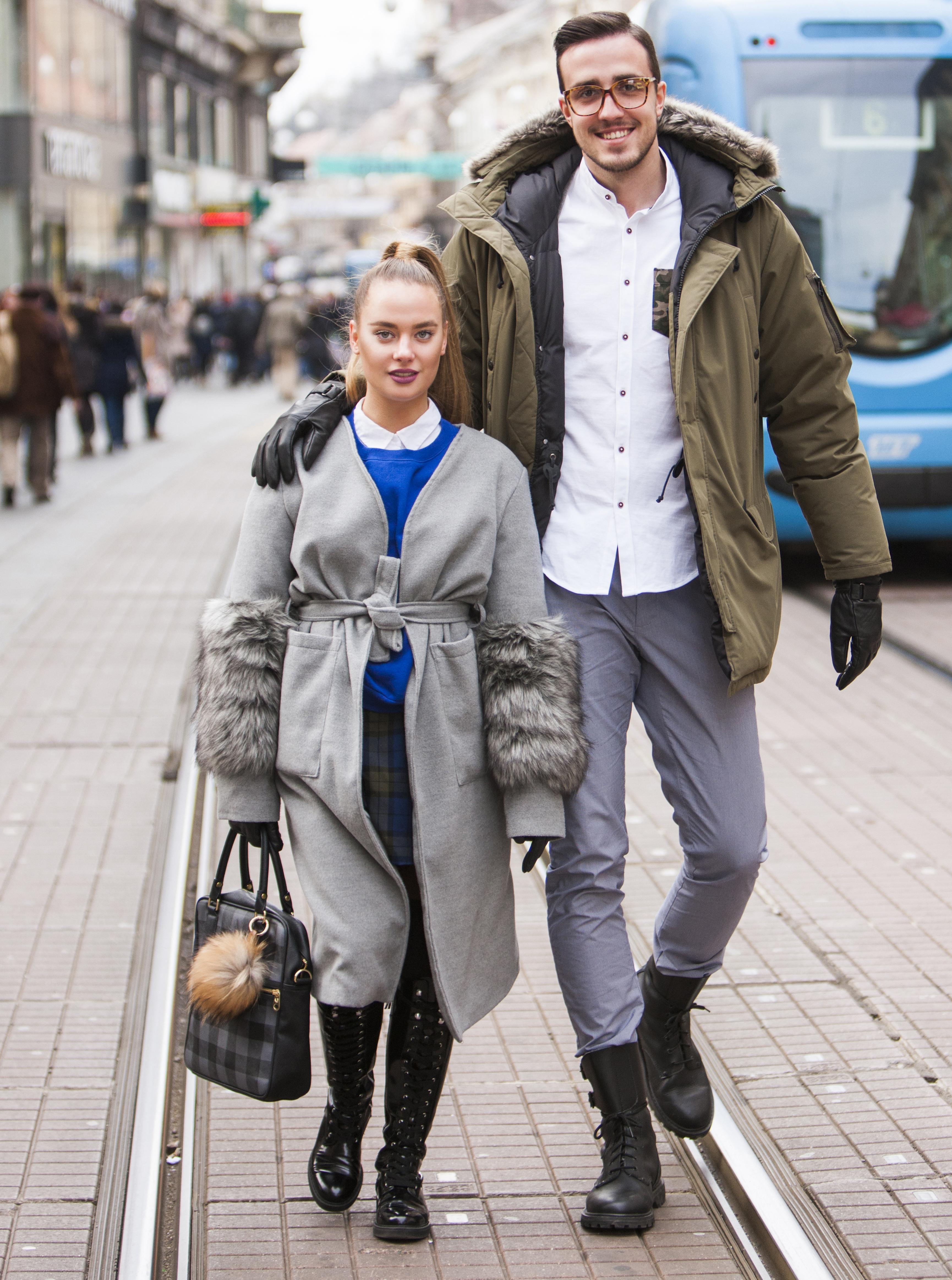 """Zgodan par iz centra:  """"Iako smo 'mala i veliki' s razlikom u visini 40 cm, uvijek uspijevamo pronaći odjeću koja odgovara našoj građi"""""""