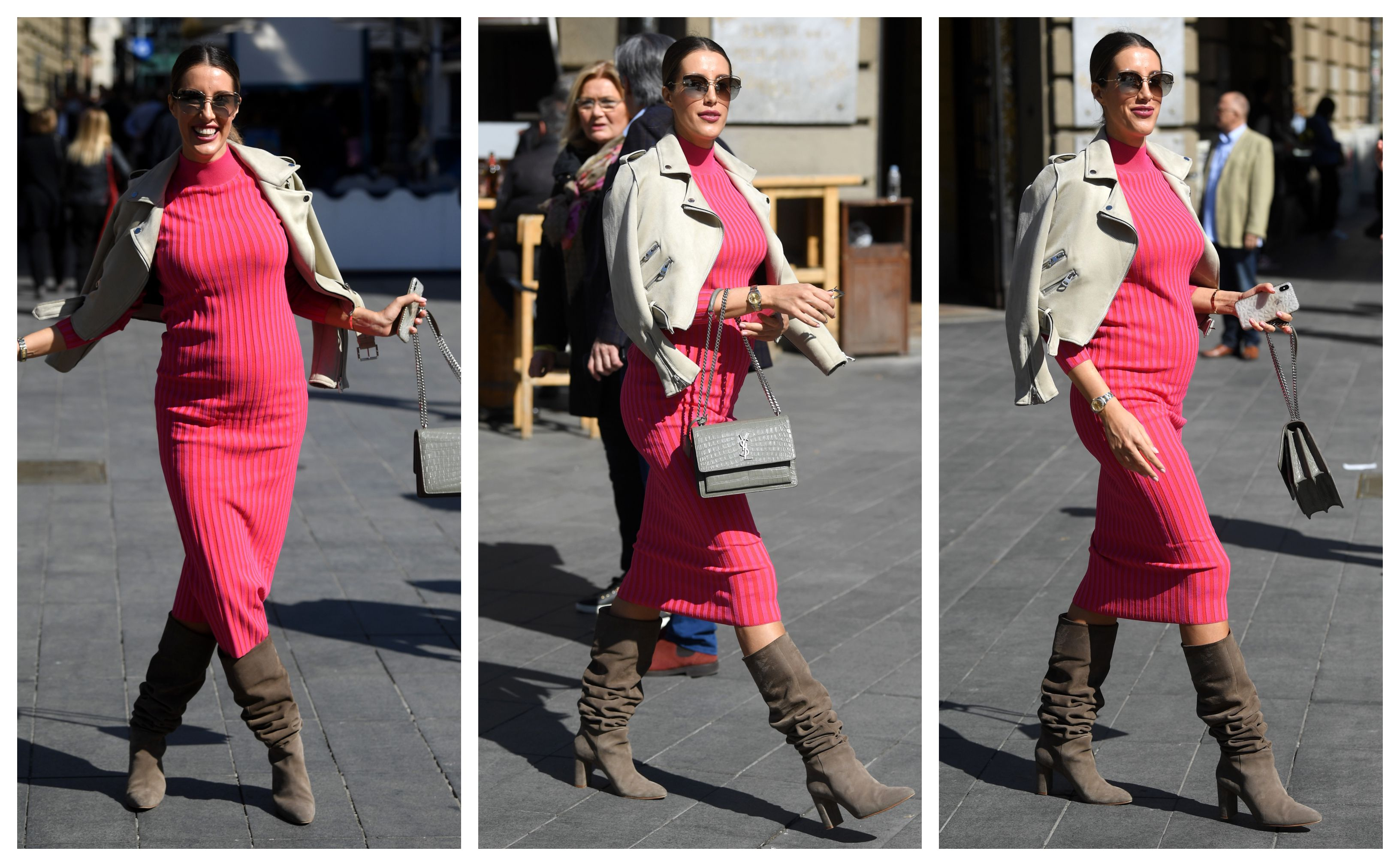 Nasmijana trudnica sa zagrebačke špice zablistala je u ružičastoj haljini
