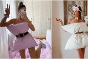 Novi popularan izazov na Instagramu: Umjesto haljina, cure 'za po doma' nose - jastuke!