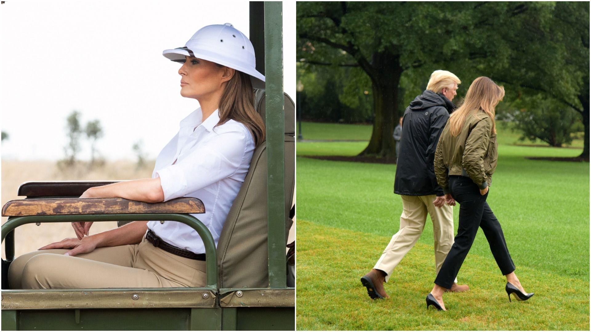 Najkontroverzniji outfiti Melanije Trump od inauguracije: Jakna s natpisom 'Nije me briga, a vas?', štikle za poplavu...