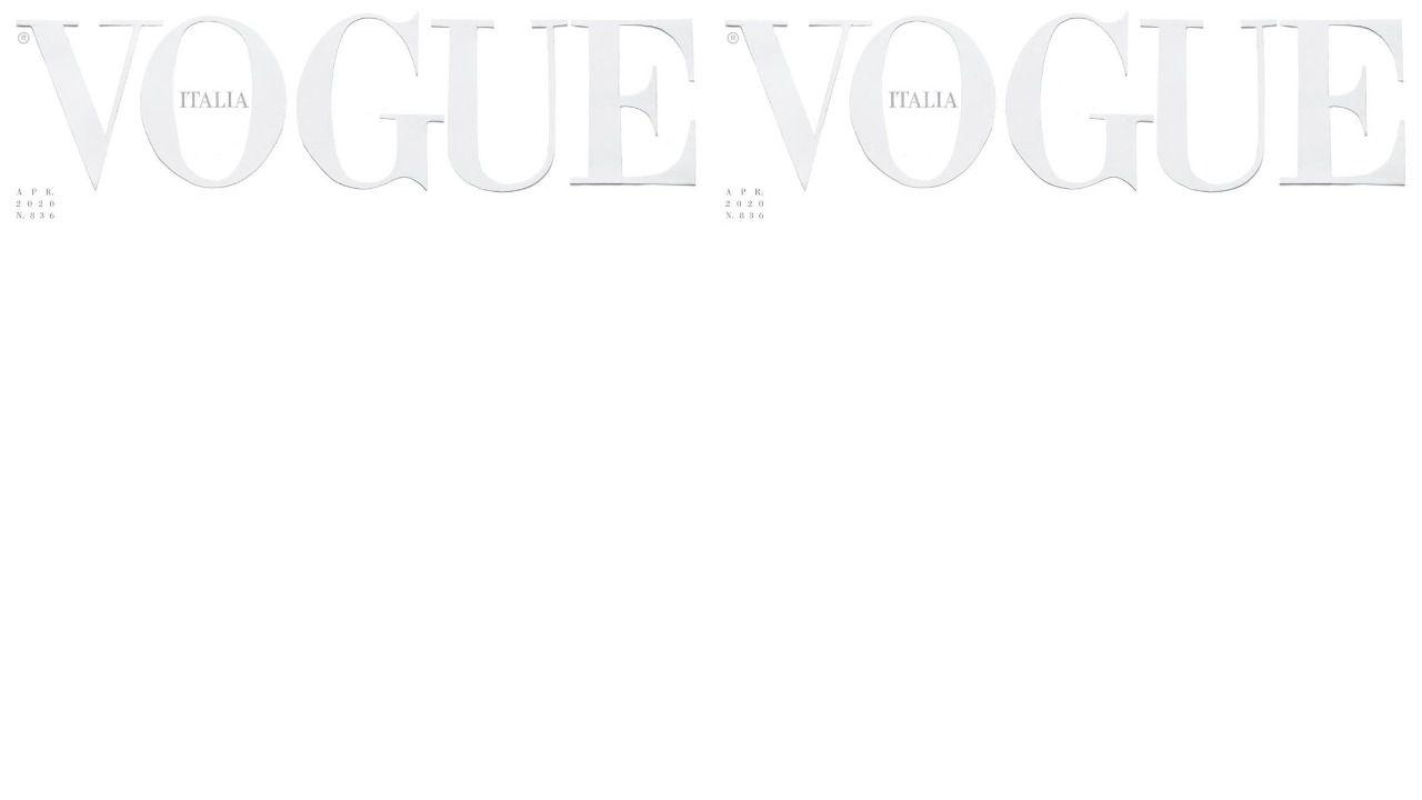 Bijela naslovnica travanjskoj izdanja Vogue Italia: 'Bijelo nije predaja, već prazan list koji čeka da ga se ispiše'