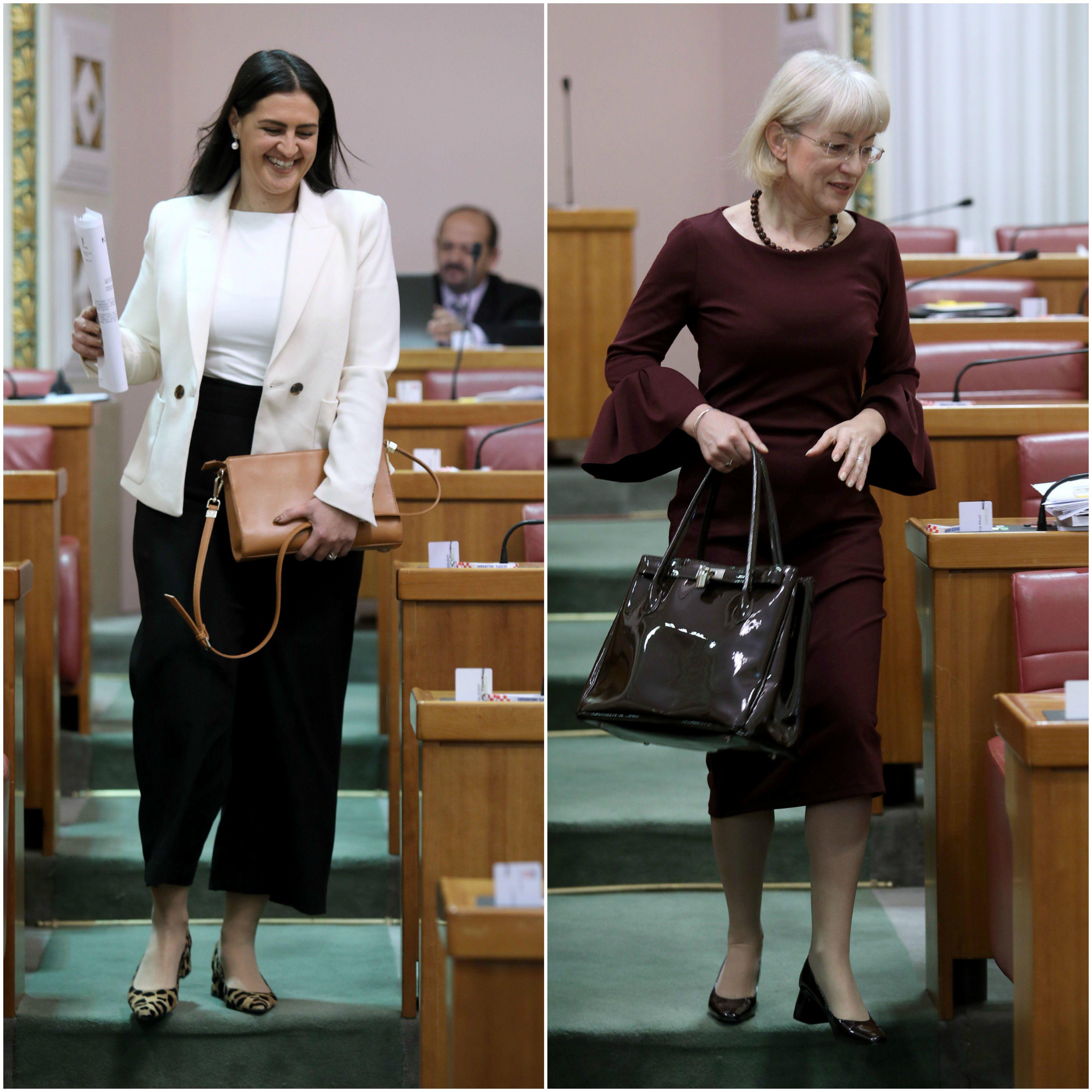 Modni dvoboj u saborskim klupama: Ivana Ninčević-Lesandrić i Vesna Bedeković pojavile se u proljetnim kombinacijama
