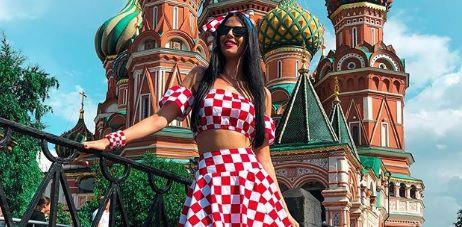 Lijepa Ivana došla i u Moskvu: Je li ovo njezin najatraktivniji navijački outfit?