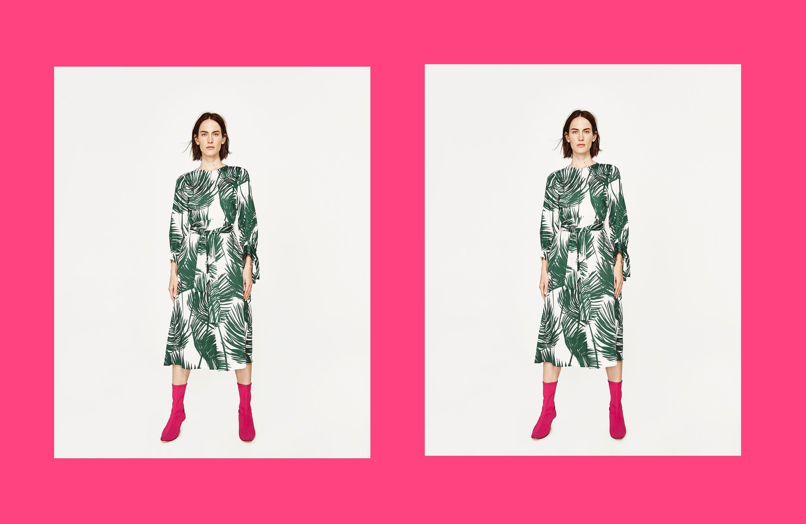 Kombinacija koju volimo: print palmi i boja fuksije
