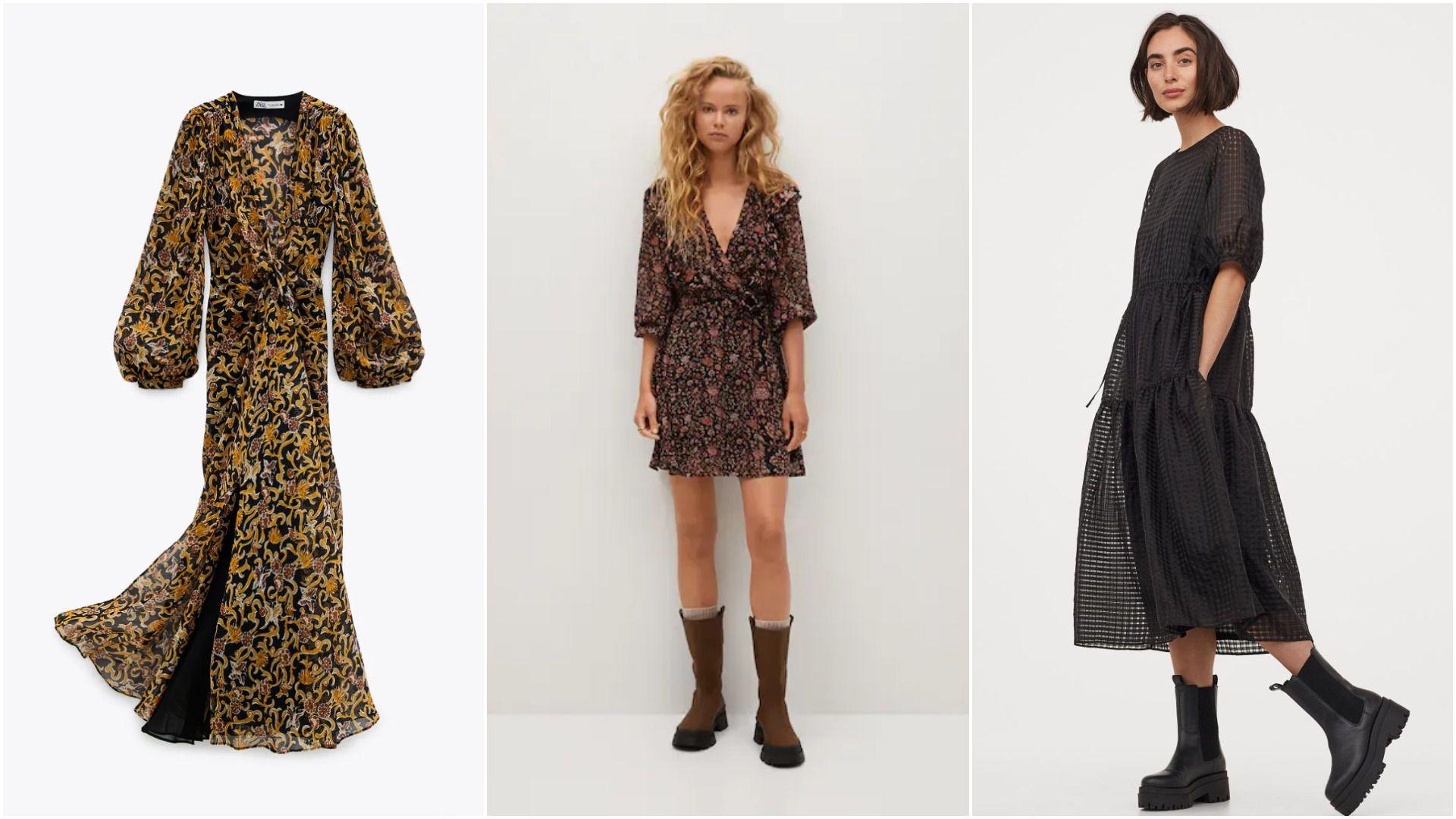 Najljepše haljine iz novih kolekcija koje ćemo ove jeseni nositi u kombinaciji s čizmama i gležnjačama