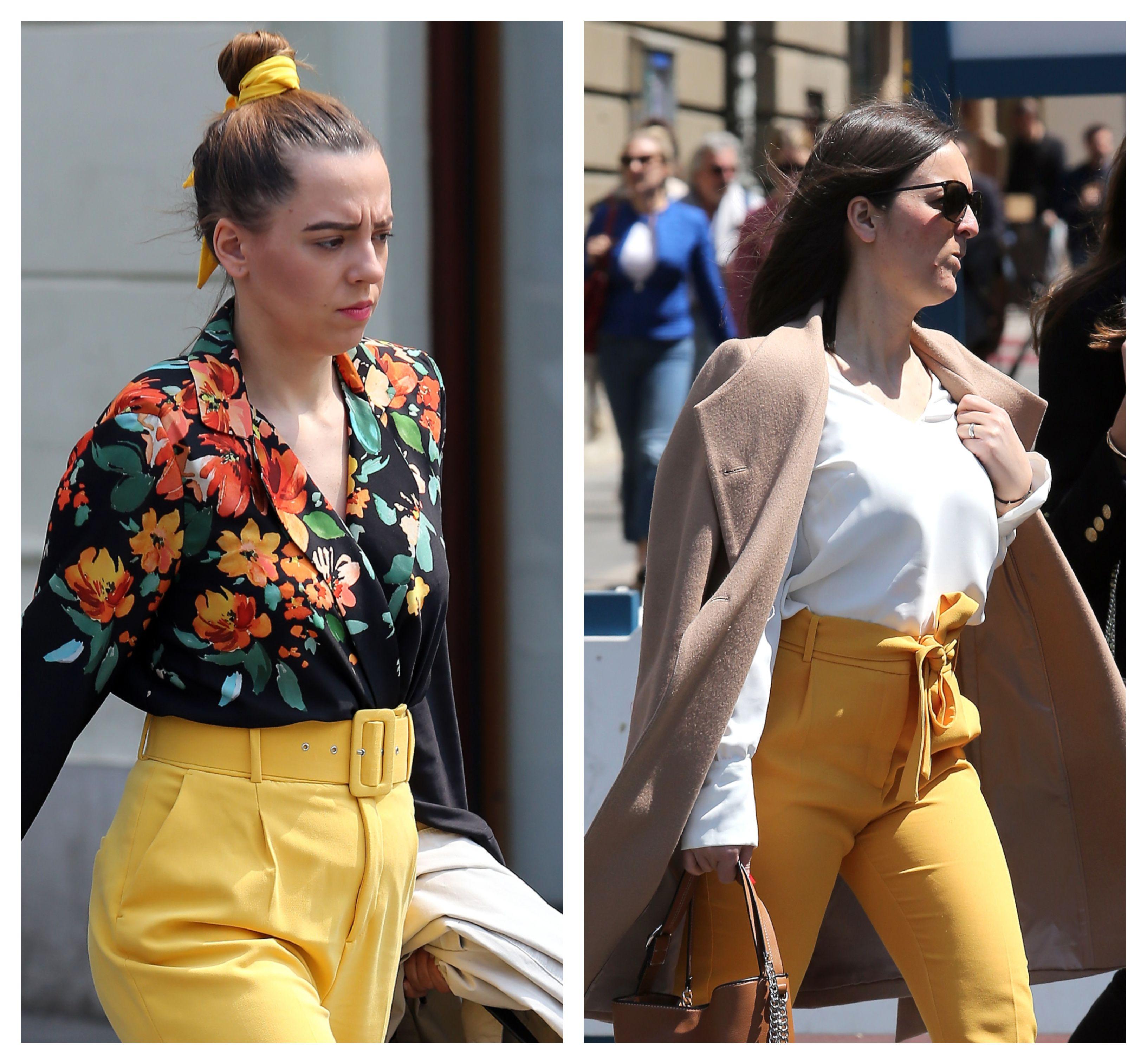 Žute hlače u prvom planu: Koja dama je upečatljiv trend bolje isfurala?