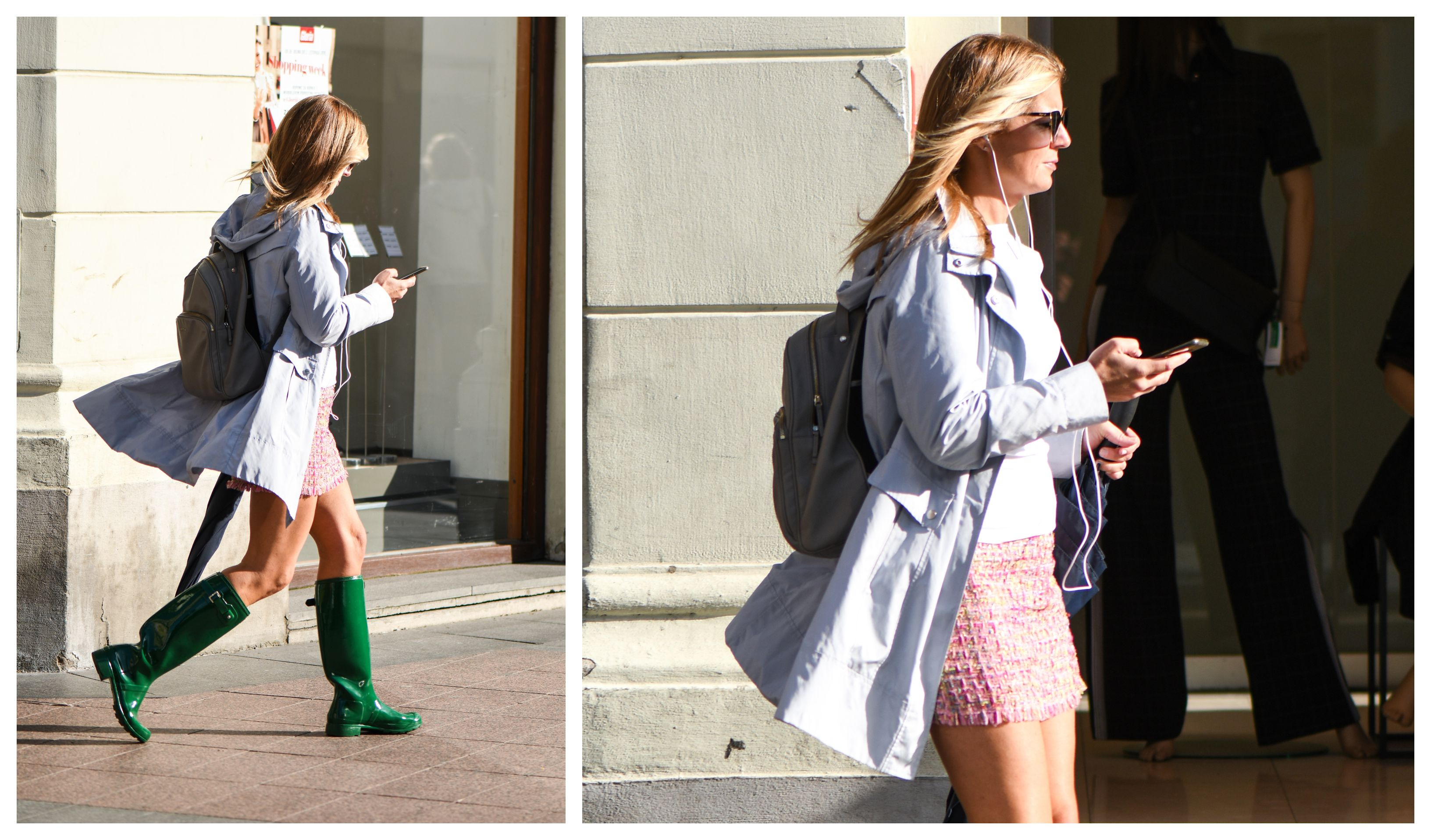 Ovu djevojku kiša ne može iznenaditi: U omiljenim Huntericama i stylish kabanici
