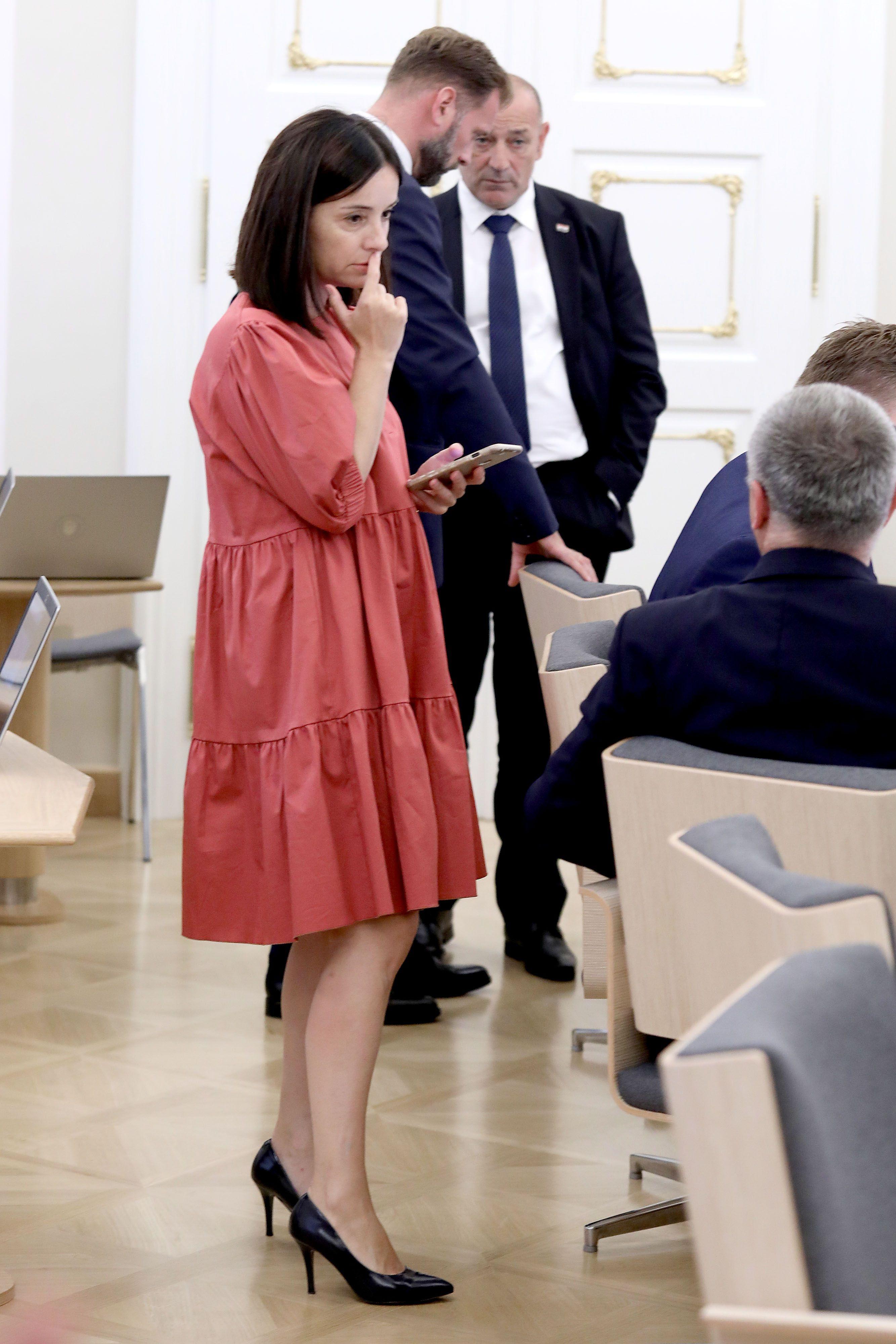 Ministrica Marija Vučković u trendi haljini istaknula se među tamnim odijelima