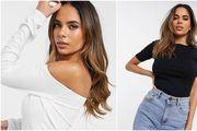 Asos je u ponudu dodao klasične crne i bijele majice za žene s većim poprsjem