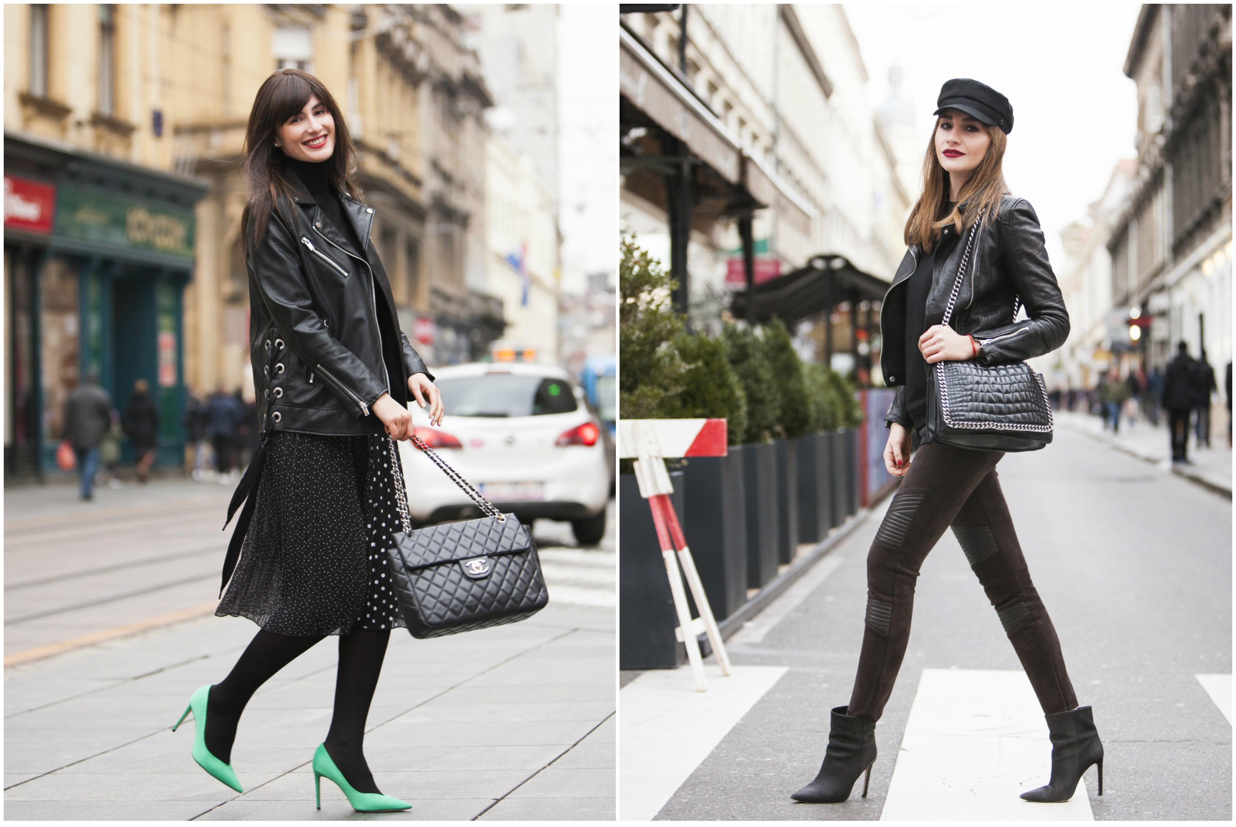 Dvije prijateljice pokazale kako bajkerska jakna savršeno funkcionira u različitim stilovima