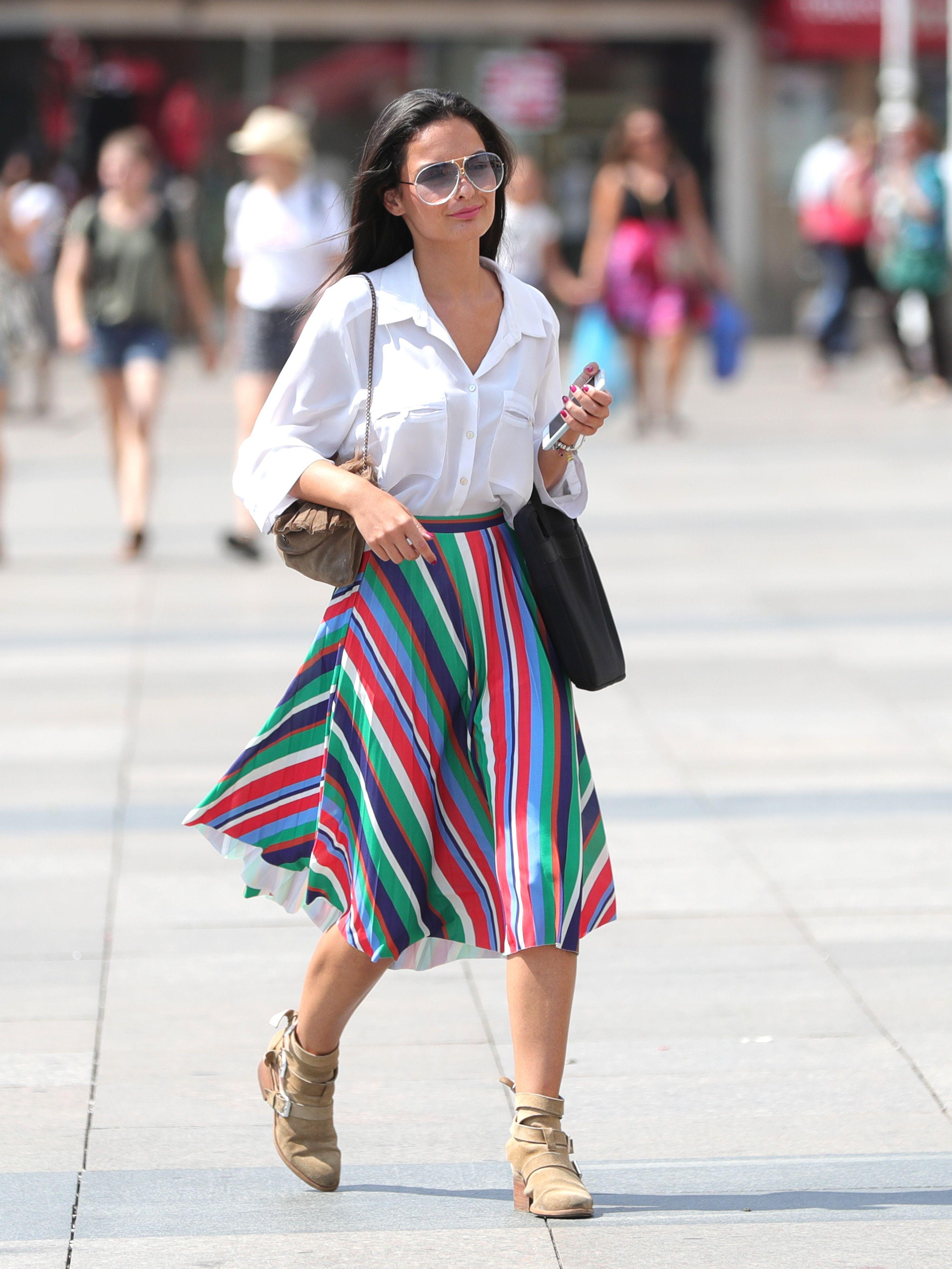Atraktivna crnka na glavnom zagrebačkom Trgu zablistala u fantastičnom stylingu