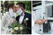 Klara i Zvonimir vjenčali su se u doba korone: Uz inspekciju i mjerenje temperature, ipak su se odlično zabavili