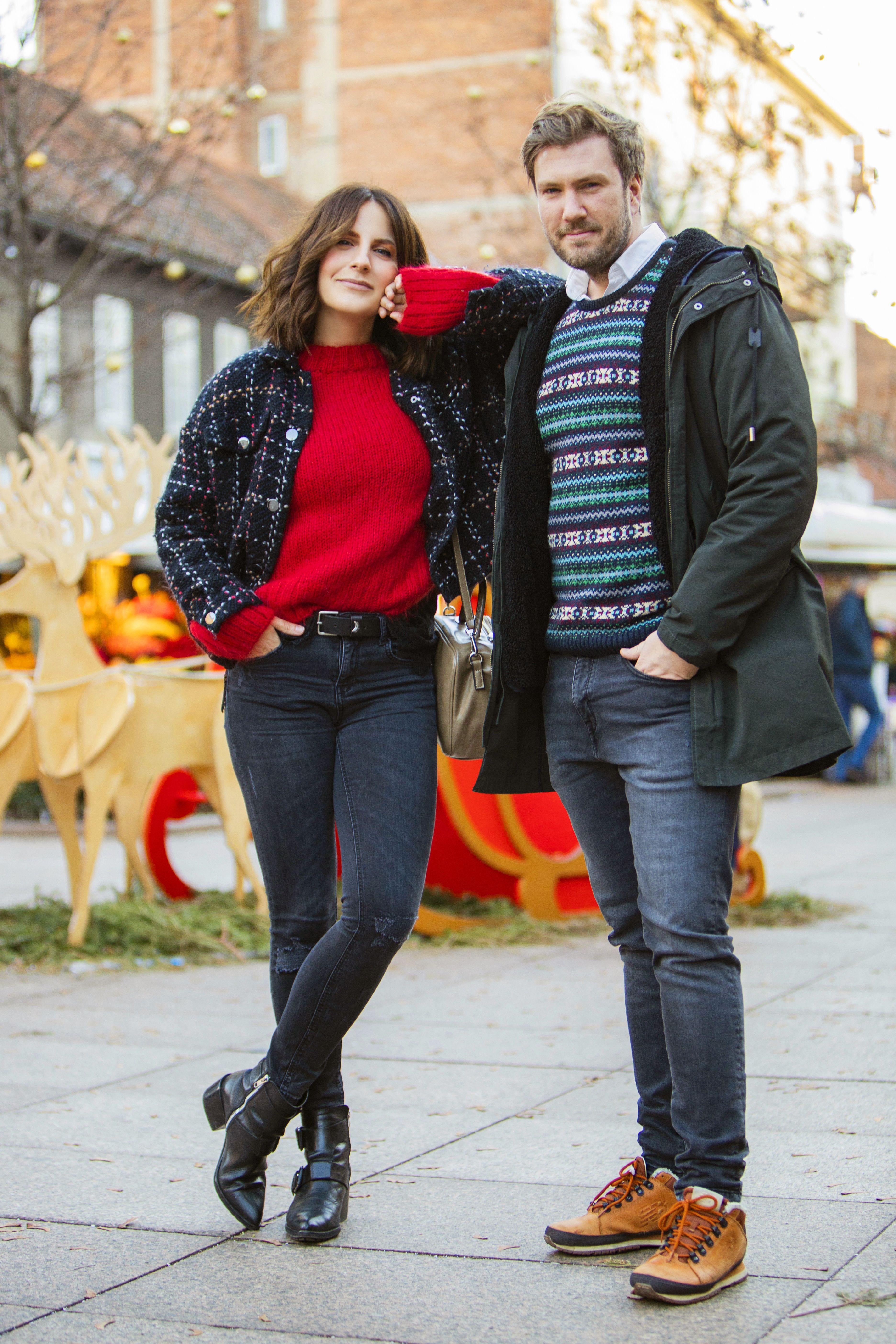 """Simpatičan i stylish par:  """"Za doček već tradicionalno nosimo pidžamu, a veselimo se jer ćemo gledati La La Land"""""""