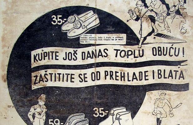 Reklama za zimsku obuću iz davne 1938.: 'Noge će vam biti kao u peći'