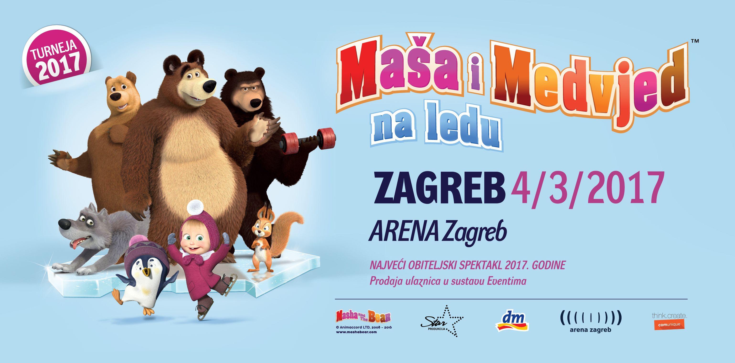 Maša i Medvjed na ledu: koji poznati Hrvati će posuditi glasove likovima iz bajke?