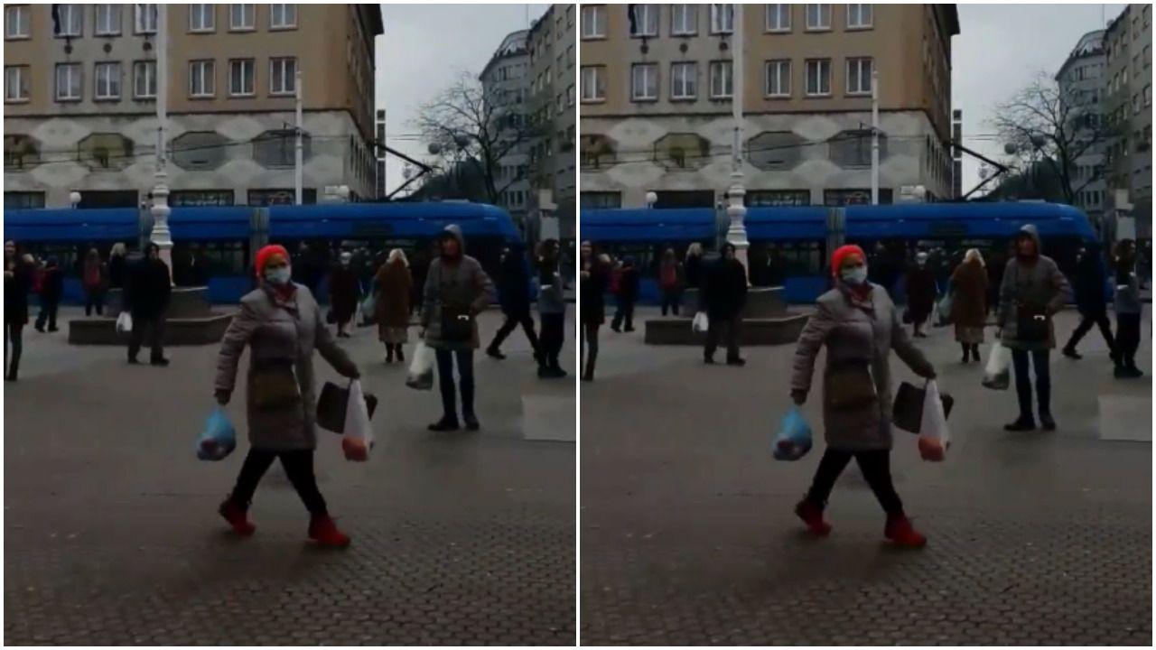Prizor sa zagrebačkog Trga koji će vam barem malo uljepšati dan: Gospođa spontano zaplesala i oduševila prolaznike