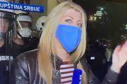 Hrabre reporterke izvještavale s prosvjeda u Beogradu: Nisu ih omeli suzavci, upozoravale prosvjednike da nose maske