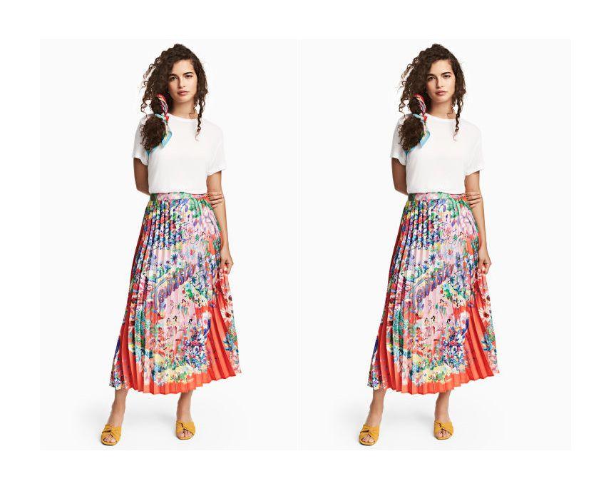 Kombinacija koju bismo voljeli vidjeti u vlastitom ormaru: plisirana suknja i basic majica