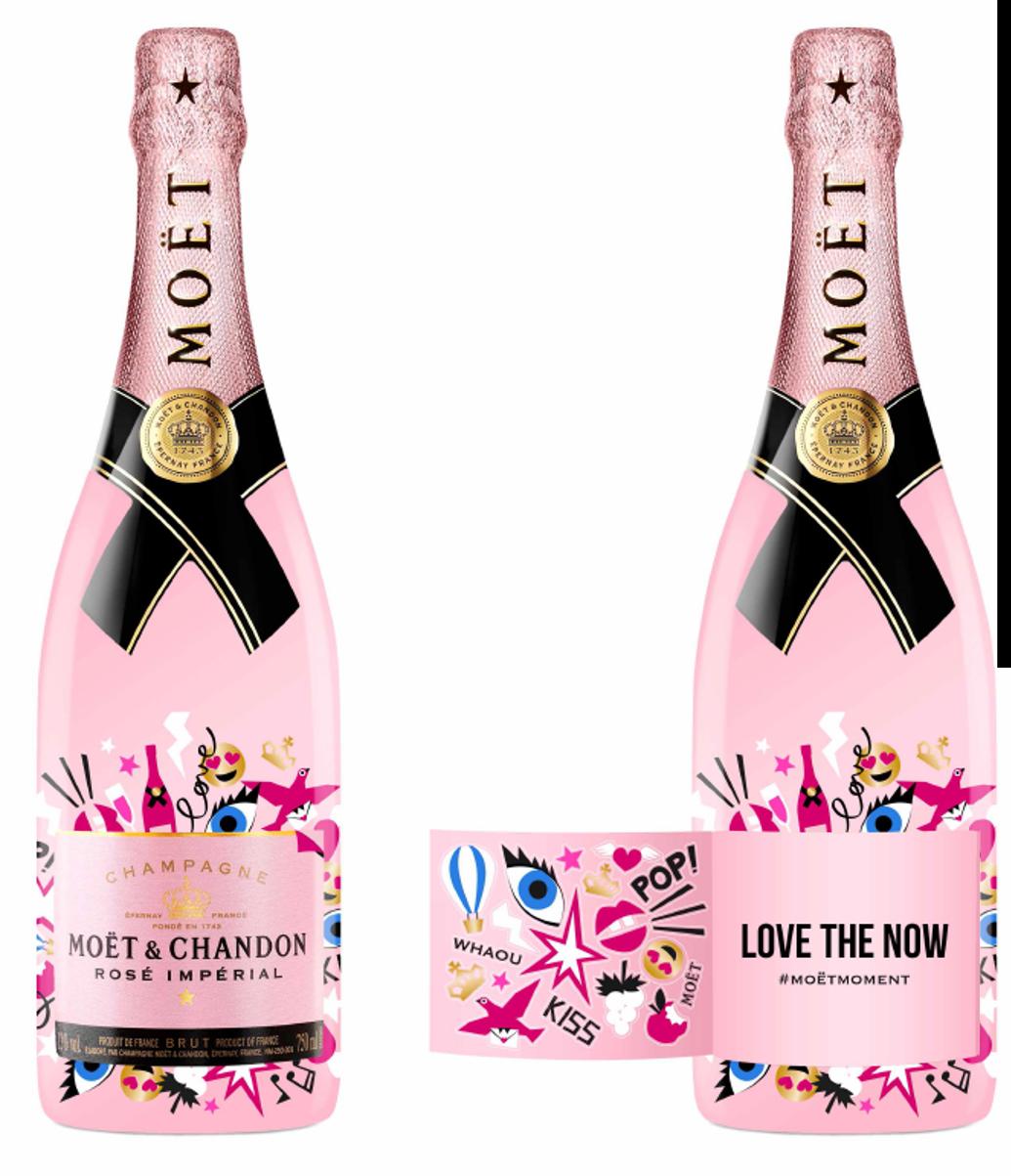 Moët&Chandon Emoëticons za trendi Valentinovo