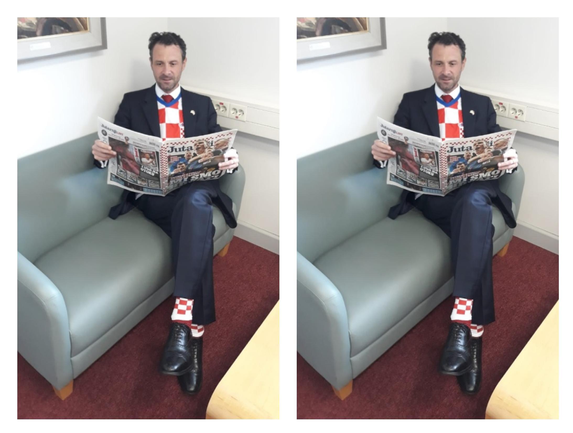 Jeste vidjeli britanskog veleposlanika? On cijeli dan mora provesti u - kockicama!