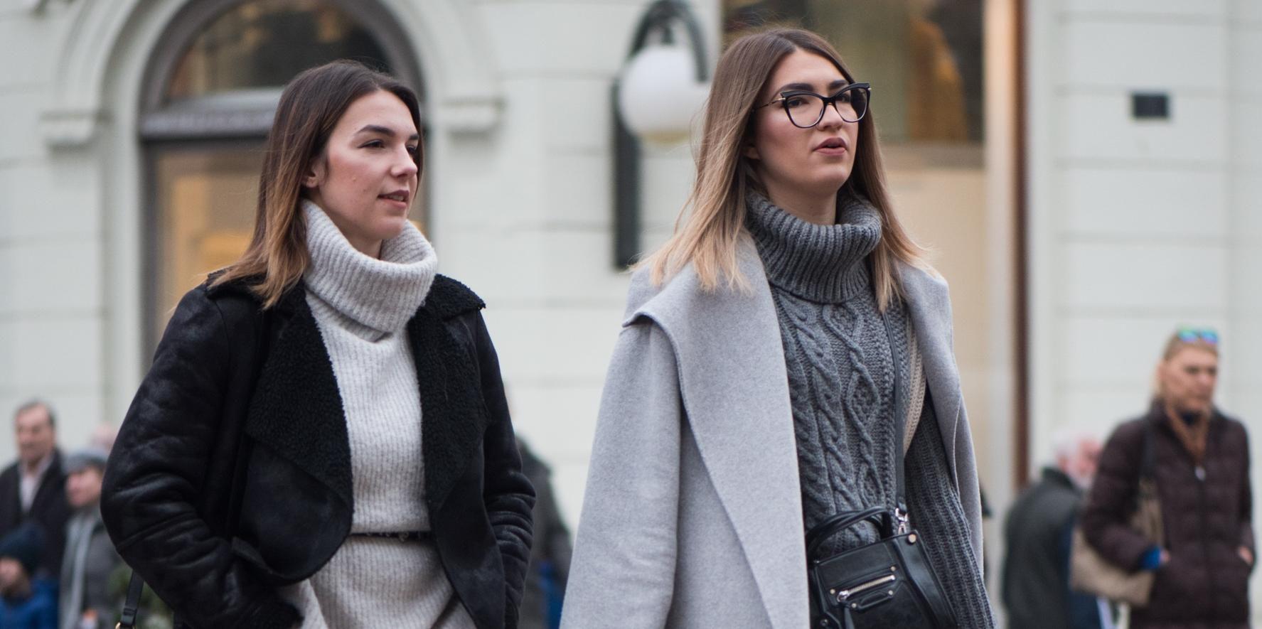 Minica i visoke potpetice: Ove dvije prijateljice pokazat će vam kako se to nosi zimi